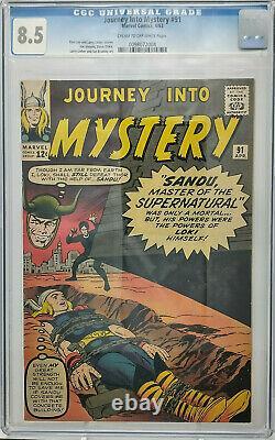 Journey Into Mystery #91 Marvel 1963 Cgc 8.5