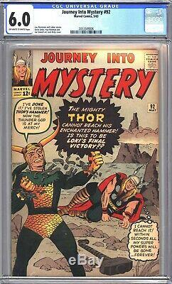 Journey Into Mystery 92 Thor CGC 6.0
