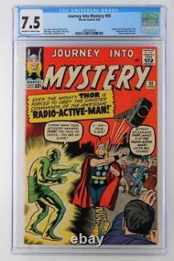 Journey Into Mystery #93-CGC 7.5 VF- Marvel 1963- 1st App/ORIGIN Radioactive Man