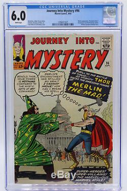 Journey Into Mystery # 96 CGC 6.0 Merlin appearance Marvel Comics Silver Age