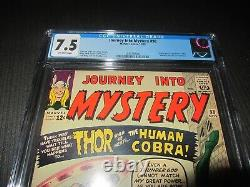 Journey Into Mystery 98 CGC 7.5, 1st Human Cobra -Marvel 1963 O/W Pages (MC)