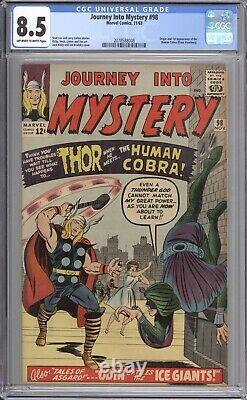 Journey Into Mystery #98 Cgc 8.5 1963 / Origin And 1st Appearance Of Cobra