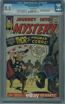 Journey Into Mystery #98 Cgc 8.5 High Grade Off-white Pages Silver Age