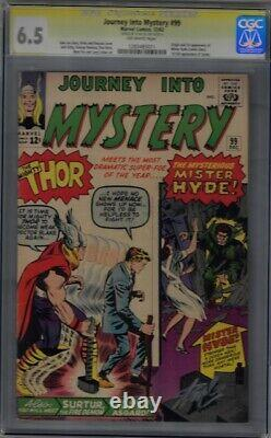 Journey Into Mystery #99 Cgc Ss 6.5 Off White Pages Signed By Stan Lee
