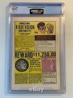 Journey Into Mystery Annual #1 CGC 5.0 (WP) 1st appearance of Hercules and Zeus