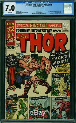Journey Into Mystery Annual #1 CGC 7.0 1965 1st Hercules! WHITE! Thor! K4 112 cm