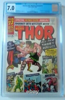 Journey Into Mystery Annual #1 CGC 7.0 1st Hercules and Zeus, Marvel 1965