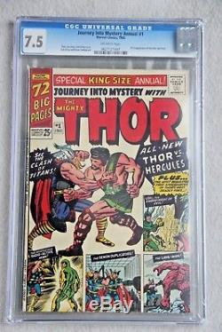 Journey Into Mystery Annual #1 CGC 7.5 OW - 1st Appearance of Hercules Zeus