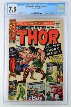 Journey Into Mystery Annual #1 CGC 7.5 VF- Marvel 1965 1st App Hercules