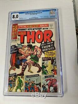Journey Into Mystery Annual #1 CGC 8.0 1st Hercules Zeus Thor Beautiful Copy