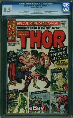 Journey Into Mystery Annual #1 CGC 8.5 1965 1st Hercules Zeus Thor WP! K4 116 cm