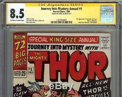Journey Into Mystery Annual #1 CGC 8.5 SS STAN LEE Thor vs Hercules 1st app Zeus