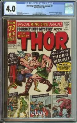 Journey Into Mystery Annual #1 Cgc 4.0 White Pages // 1st App Hercules + Zeus