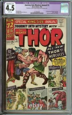 Journey Into Mystery Annual #1 Cgc 4.5 White Pages/ 1st Appearance Hercules/zeus