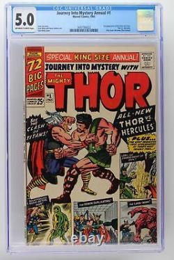 Journey Into Mystery Annual #1 Marvel 1965 CGC 5.0 1st App of Hercules