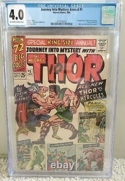 Journey Into Mystery Annual #1 cgc 4.0 Thor OWithW