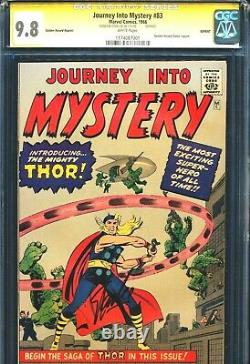 Journey Into Mystery GRR 83 CGC 9.8 SS WHITE PAGES Signed STAN LEE & Record LP