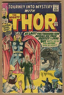 Journey Into Mystery Lot Origin of Loki & More! 1965 (Grade 4.0-6.0) WH