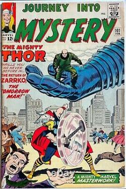 Journey Into Mystery-Thor #101 GUEST STARRING THE AVENGERS, 2nd ZARRKO LEE/KIRBY