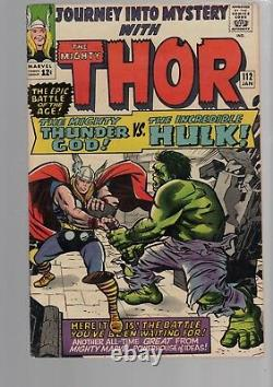 Journey Into Mystery Thor 112 Classic Hulk Battle Jack Kirby Silver Age Marvel