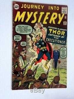 Journey Into Mystery Thor #84 Marvel Comic Book 1962 Fine+ Ow-w Pages 2nd Thor