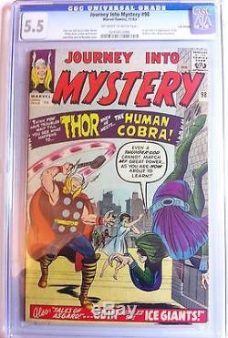 Journey Into Mystery Thor 98 Marvel Silver Age 1963 CGC 5.5 1st Human Cobra