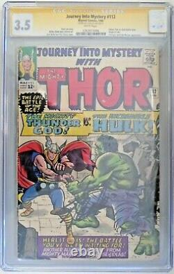 Journey Into the Mystery #112 CGC 3.5 Signed by Stan Lee