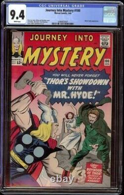 Journey into Mystery # 100 CGC 9.4 White (Marvel, 1964) Jack Kirby cover, Scarce