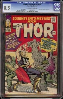 Journey into Mystery # 106 CGC 8.5 OWithW (Marvel 1964) Jack Kirby cover
