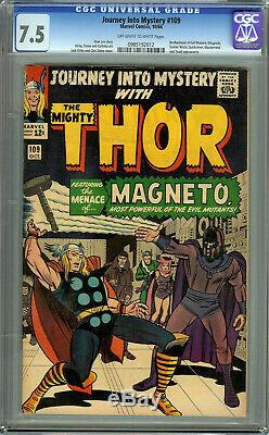 Journey into Mystery #109 CGC 7.5 Off-White to White Thor Magneto