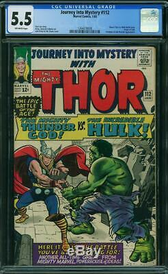 Journey into Mystery 112 CGC 5.5 - 1965 - Thor Hulk Battle Cover #1264378008