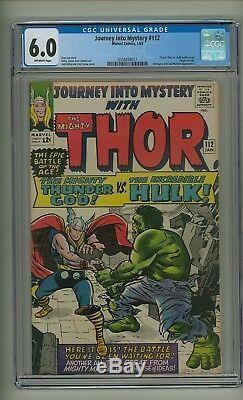 Journey into Mystery 112 (CGC 6.0) O/W p Classic Thor vs. Hulk battle (c#21909)
