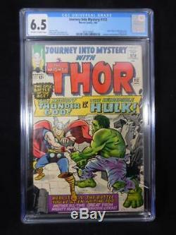Journey into Mystery #112 CGC 6.5 Thor Vs Hulk Battle Origin Loki