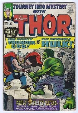 Journey into Mystery #112 (Jan 1965, Marvel) Hulk Vs Thor Battle Classic 5.5 FN