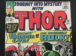 Journey into Mystery 112 Thor vs Hulk Kirby art HIGH GRADE