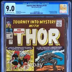 Journey into Mystery #119 (1965) CGC 9.0 1st App of Hogun! Thor Marvel