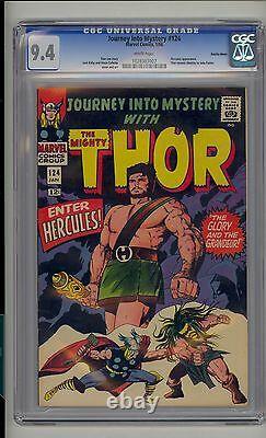 Journey into Mystery #124 CGC 9.4 NM Thor Marvel Hercules Suscha News Pedigree