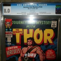 Journey into Mystery #124 Marvel 1965 CGC 8.0 (VERY FINE)