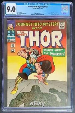 Journey into Mystery #125 CGC 9.0 Marvel Comics 1966 White Pages last issue Thor
