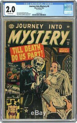 Journey into Mystery #6 CGC 2.0 1953 1482242021