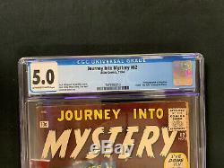 Journey into Mystery #62 (1st Series) CGC 5.0 1st Hulk Steven Ditko Jack Kirby