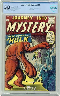 Journey into Mystery #62 CBCS 5.0 1960