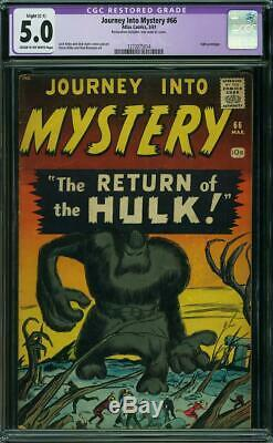 Journey into Mystery #66 CGC 5.0-Restored - 1961 - Hulk prototype #1273075014
