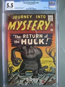 Journey into Mystery #66 CGC 5.5 WP Atlas Comics 1961 Hulk Prototype