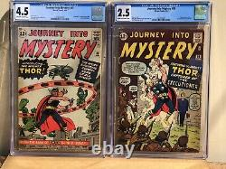 Journey into Mystery #83 & #84 CGC 4.5 & 2.5 1st Thor, Avengers, Jane Foster