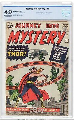 Journey into Mystery #83 CBCS 4.0 1st Thor, not CGC Avengers Off-WHITE Pages