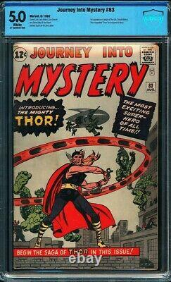 Journey into Mystery #83 CBCS 5.0 White Pages Origin & 1st app. Of Thor! L@@K