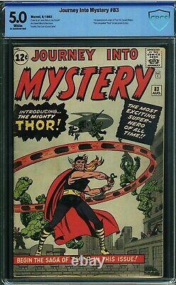 Journey into Mystery 83 CBCS not CGC 5.0 WHITE PAGES 1st appearance of Thor