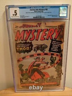 Journey into Mystery #83 CGC 0.5 C-OW pages 1st App Thor. Book is complete