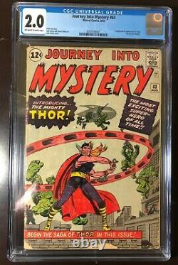 Journey into Mystery #83 CGC 2.0 owithw. 1st App of Thor. Classic Lee & Kirby